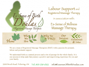 Es-sense of Birth Doula Web Design