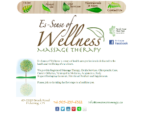 Es-Sense of Wellness Massage Therapy Web Design
