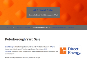 als yardsale peterborough web design