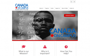 Canada on Campus website preview