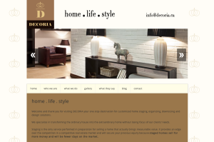 decoria website by portage