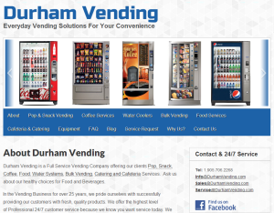 durham vending web design