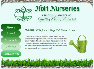 holt nursuries markham website