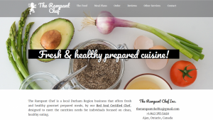Rampant Chef Ajax website preview